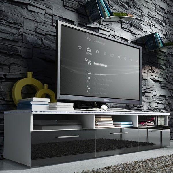 25 best ideas about meuble tv design on pinterest for Meuble tv tres fin