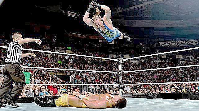 RVD Five Star Frog Splash on Darren Young
