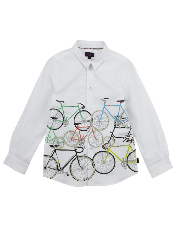 PAUL SMITH JUNIOR  Boys White Cycle Print Shirt  from €100,00  now €50,00