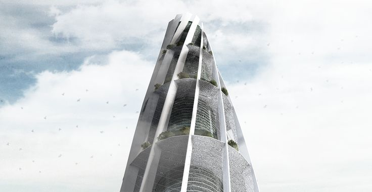 Camanchaca Water Spire Tower Creans+ proposal for eVolo Skyscraper Competition 2015
