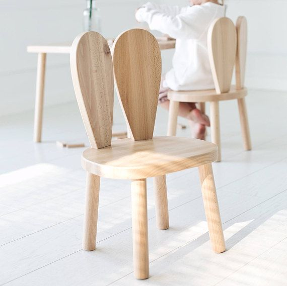 Chaise Enfant En Bois Chaise Lapin Naturel Littlenomad Farmhouse Table Chairs Kids Chairs Chair
