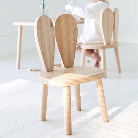 Chaise Enfant En Bois Chaise Lapin Naturel Littlenomad Kids Chairs Chair Design Wooden Farmhouse Table Chairs