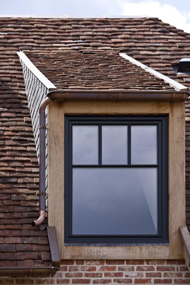 Steellook raam dakkapel met afrormosia fronten
