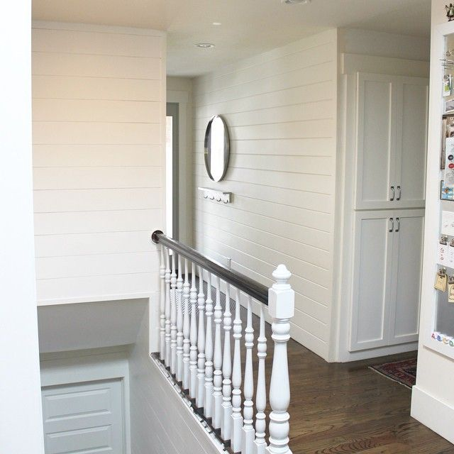"""Check out how Michelle Hinckley of lifestyle blog """"4 Men 1 Lady"""" utilized HomeAdvisor to update her stenciled wall into a plank wall masterpiece. #homeblog #homeimprovement #homeproject #DIYblog"""