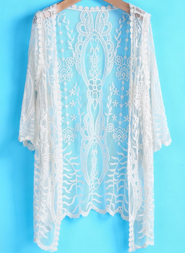 Apricot Long Sleeve Embroidered Loose Blouse US$20.79