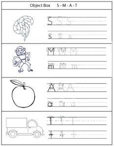 worksheet smat montessori language preschool phonics phonics activities for kids. Black Bedroom Furniture Sets. Home Design Ideas