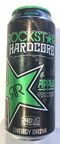 Rockstar Energy Drink - Hardcore Apple - 16fl.oz. (Pack of 4) ** More details can be found by clicking on the image. #EnergyDrinks