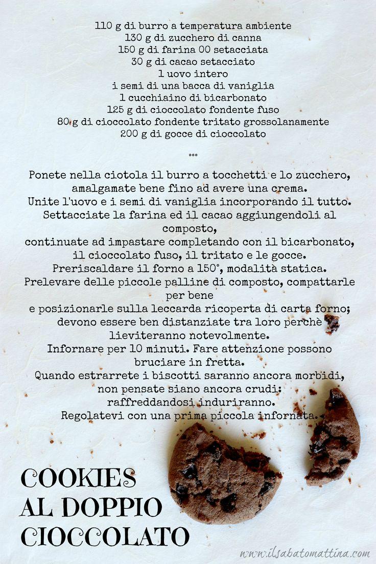 cookies al cioccolato ricetta