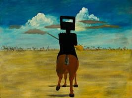 Nolan's Kelly is among the iconic Australian paintings headed to London