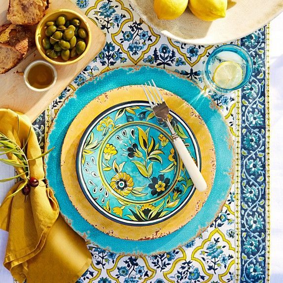 La Med Melamine Salad Plates,Williams Sonoma