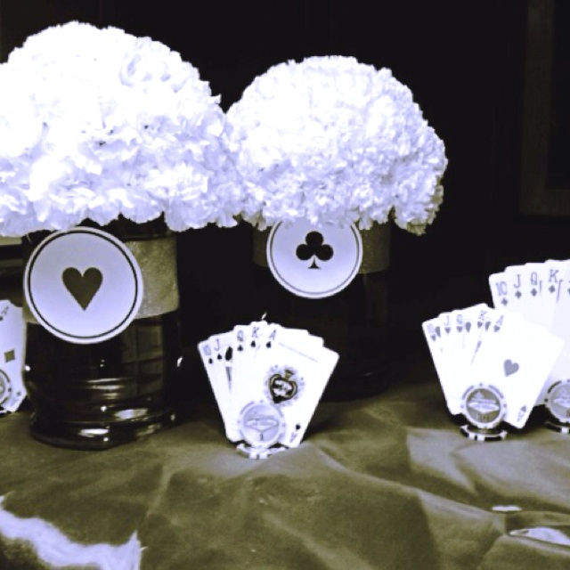 183 best images about party time casino theme 30th for Do it yourself centerpieces for birthday