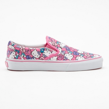 Vans Classic Slip-on Hello Kitty Roze VQFD66X, roze vans schoenen | x-kds.com 3,5 jaar official online dealer, bekijk nu winter 2012.
