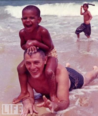 Barack Obama with his GrandfatherTHIS IS WHAT OBAMA'S GRANDPARENTS SHOWED THE GRANDSON IS WHAT AMERICANS LOOK LIKE AND HOW THEY LOVE EACH OTHER!