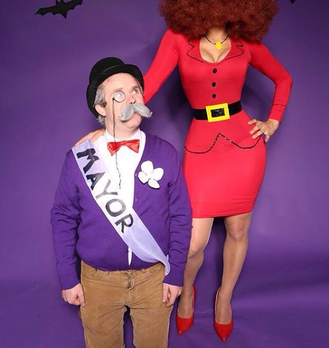 Miss Bellum and the Mayor From The Powerpuff Girls