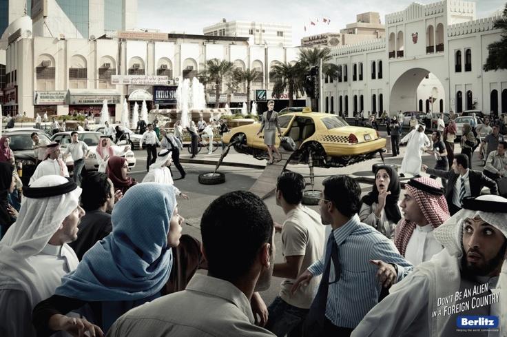 Campaign: Berlitz UFO: New York Taxi / Advertiser: Berlitz / Agency: FP7/BAH / Country: Bahrain / Creative Director: Fadi Yaish Art / Director: Gautam Wadher / Award: Photography Emerald