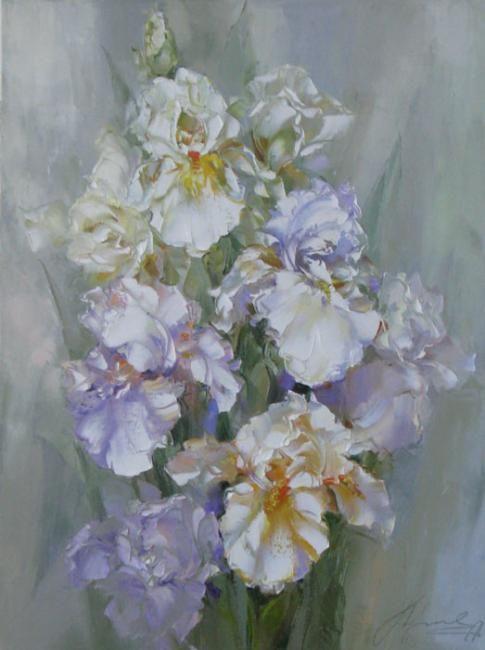"""Irises"" by Russian artist, Oksana Kravchenko (1971)  Russia, Novouralsk"