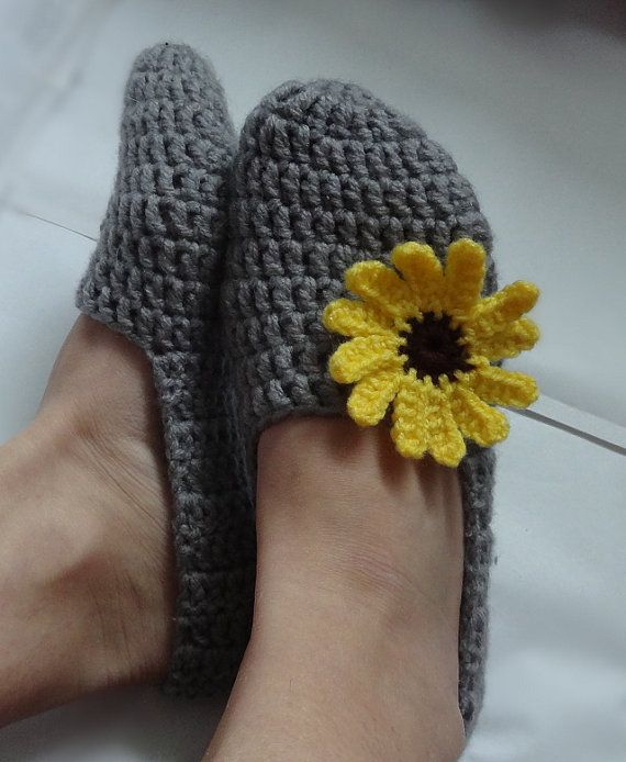Crochet Slippers Womens  Adult Crochet Slippers Home by Ifonka, $18.00