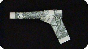 Double Barrel dollar bill gun