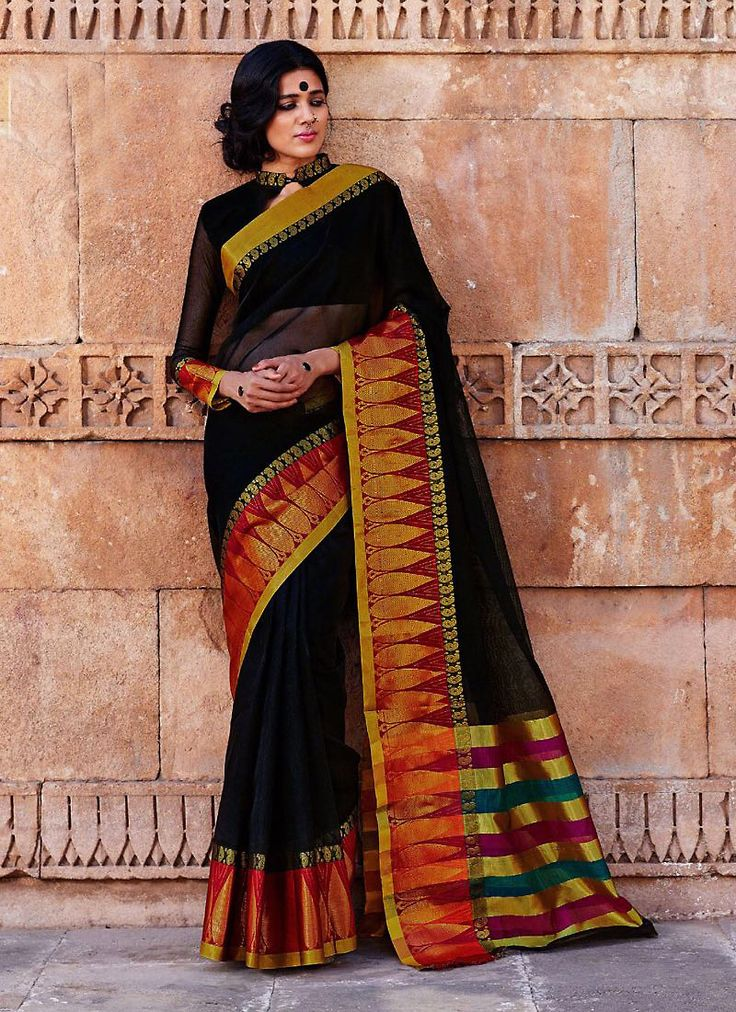 Design and style and pattern will be on the peak of your elegance once you dresses this Black Cotton Saree. The ethnic Plain Work at the clothing adds a sign of attractiveness statement with your look. Buy Online Printed Cotton Ethnic Saree, Party Wear, Kitty Party Wear, Festival Wear, Sarees, Shari, Sari, Indian Saris For women. We have large range of Printed Cotton Sarees Online in our website with the best pricing and unique designs shipping to World Wide.