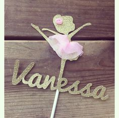 Ballerina Cake Topper by bloomingdaisydesign on Etsy