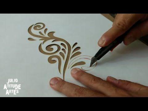 Como fazer STENCIL para pinturas - passo a passo - YouTube