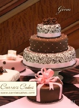 scroll work on cakes