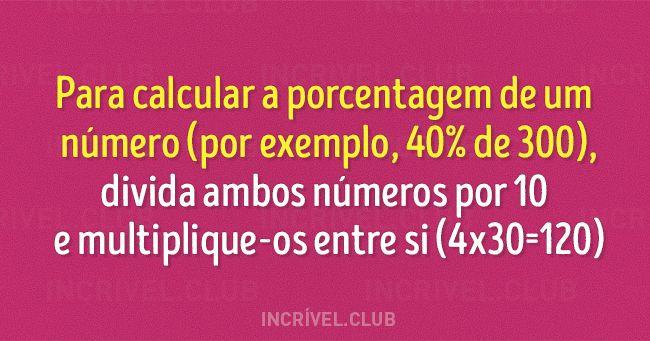 10 truques simples de matemática