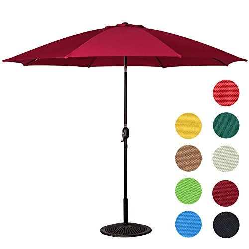 #Sundale #Outdoor #9 #Feet #Aluminum #Patio #Umbrella with #Crank and #Push #Button #Tilt, #8 #Fiberglass #Ribs #Umbrella easily opens and closes with #crank lifting system; Handy 2-way push-button feature helps to keep the sun at your back Wind resistant with its 1.5-inch powder coated #aluminum pole, #8 #fiberglass #ribs in dark brown finish and single wind vent Lace up the #umbrella by hook&loop, easy for storage and carry https://homeandgarden.boutiquecloset.com/product/s