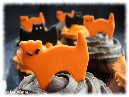 Licorice cupcakes for Halloween  Lakritsiset halloween-muffinssit | Reseptit | Kinuskikissa