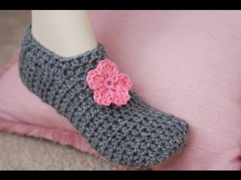 How To Crochet Glama's PUCKERLESS Slippers - YouTube
