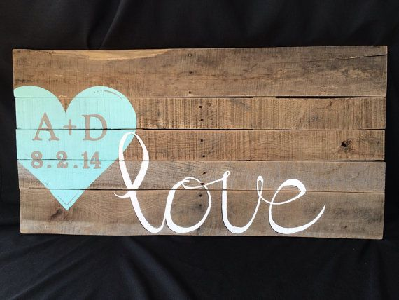 Hey, I found this really awesome Etsy listing at https://www.etsy.com/listing/187896557/reclaimed-pallet-wood-love-sign-with