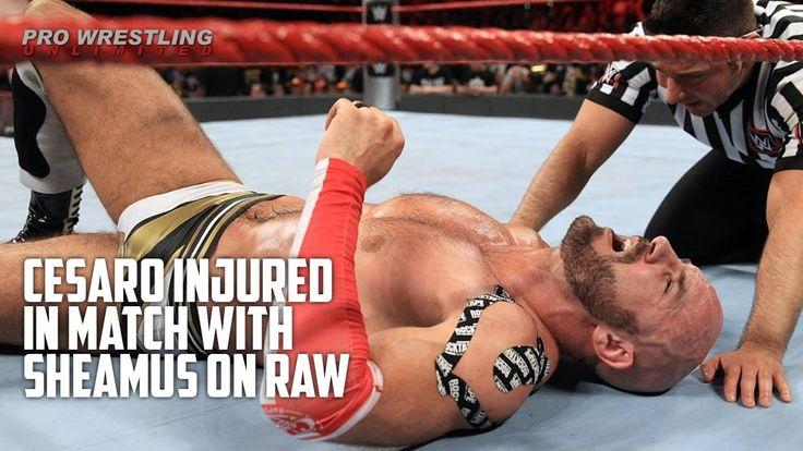 WWE sheamus vs cesaro FULL MATCH- Cesaro INJURED