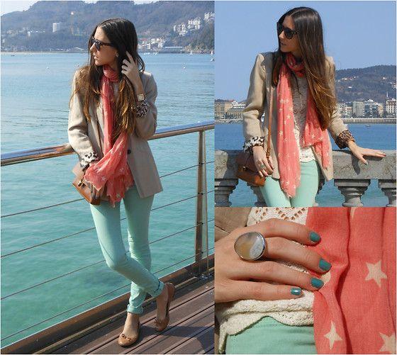 Mint jeans (by Silvia Cuesta) http://lookbook.nu/look/3153275-Mint-jeans