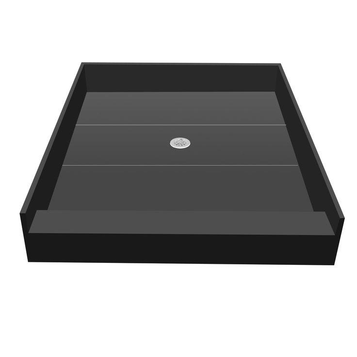 Redi Base 42 X 36 Single Curb Shower Pan With Center Drain (42x36 Single  Curb