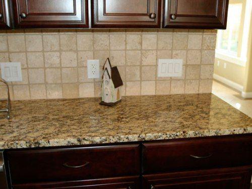 backsplash with santa cecilia granite countertops - Google Search