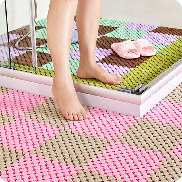 5pcs New Removable Diy Splice Bath Mat Non Slip Massage Shower Mat For Stitching Anti Slip Puzzle Pad Bathroom Accessories Shower Mat Diy Shower Bathroom Mats