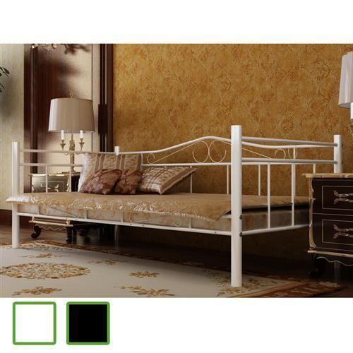 Tagesbett-Einzelbett-90x200-Metallbett-Metall-Bett-Bettgestell-Bett-Sofa