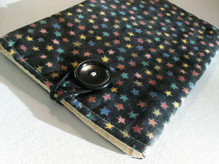 Tablet Kindle Kobo Ereader Sleeve Case Cover, Black, stars, tablet fabric sleeve by brenniequilts on Etsy