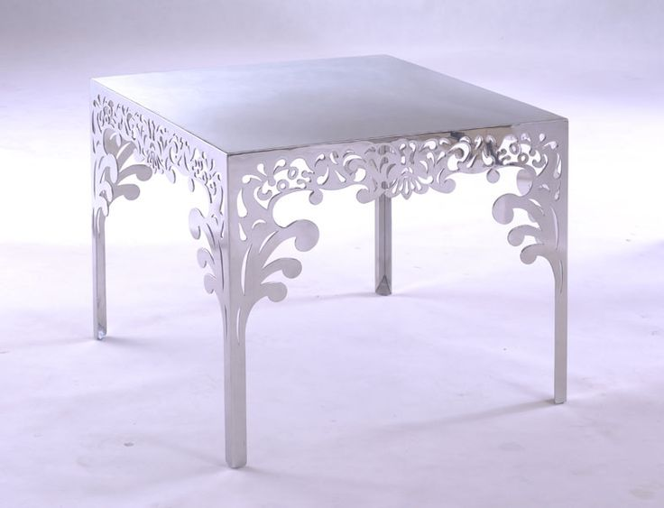 Modern Rococo Furniture | Rococo Style White Modern Square Coffee Tables with Luxury Flower ...