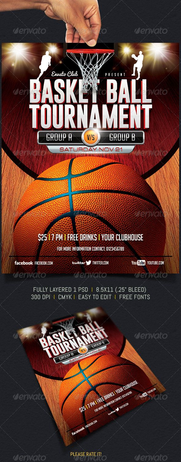 Basketball tournament flyers