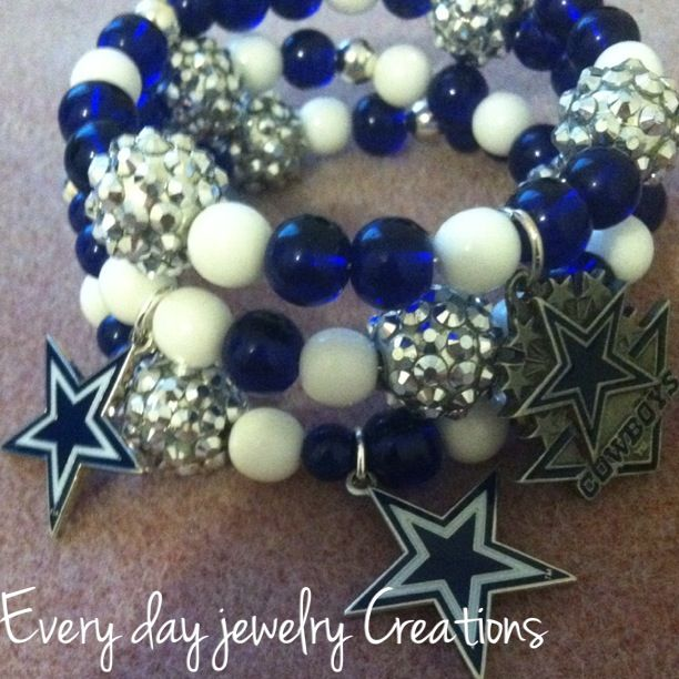Custom made / dallas cowboys wrap around bracelet / sold