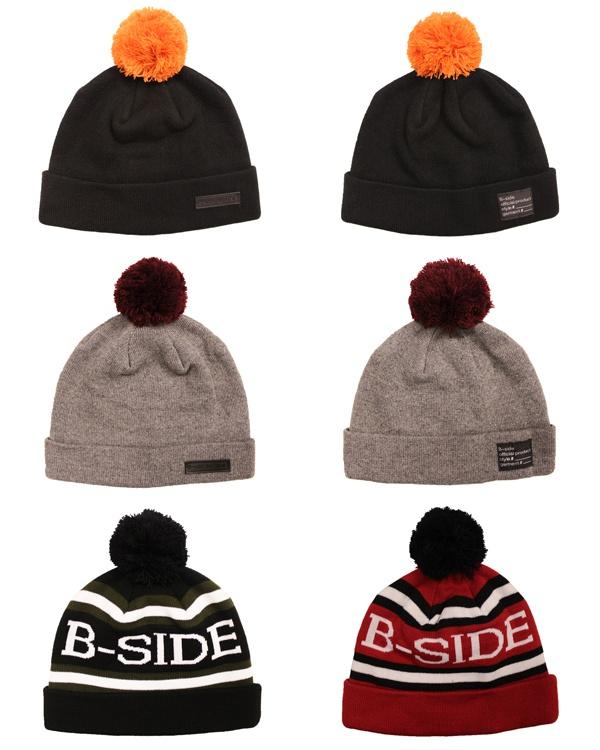 B-side bobble hats £25