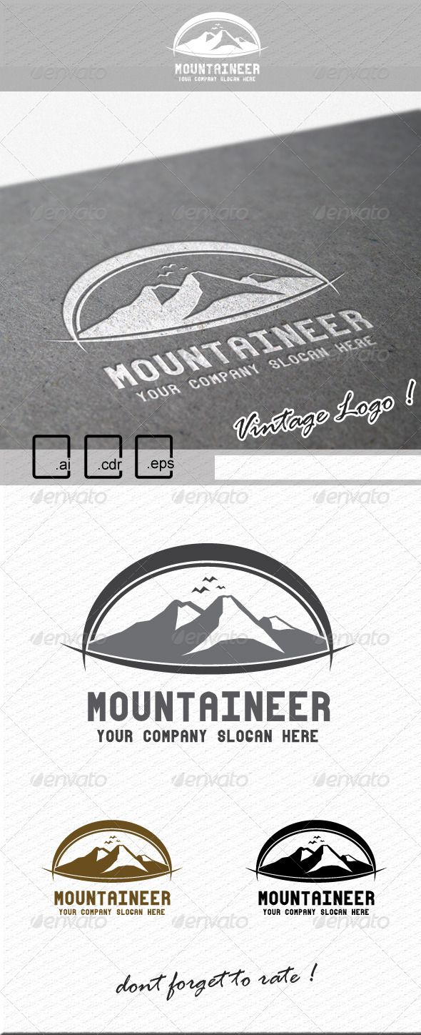 Mountaineer Logo GraphicRiver This file contains 4 Ai