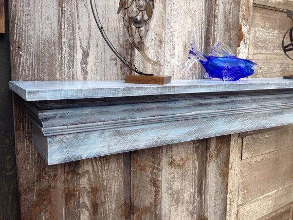 Floating Fireplace Mantle Shelf with Wide by CenterCreekCreations