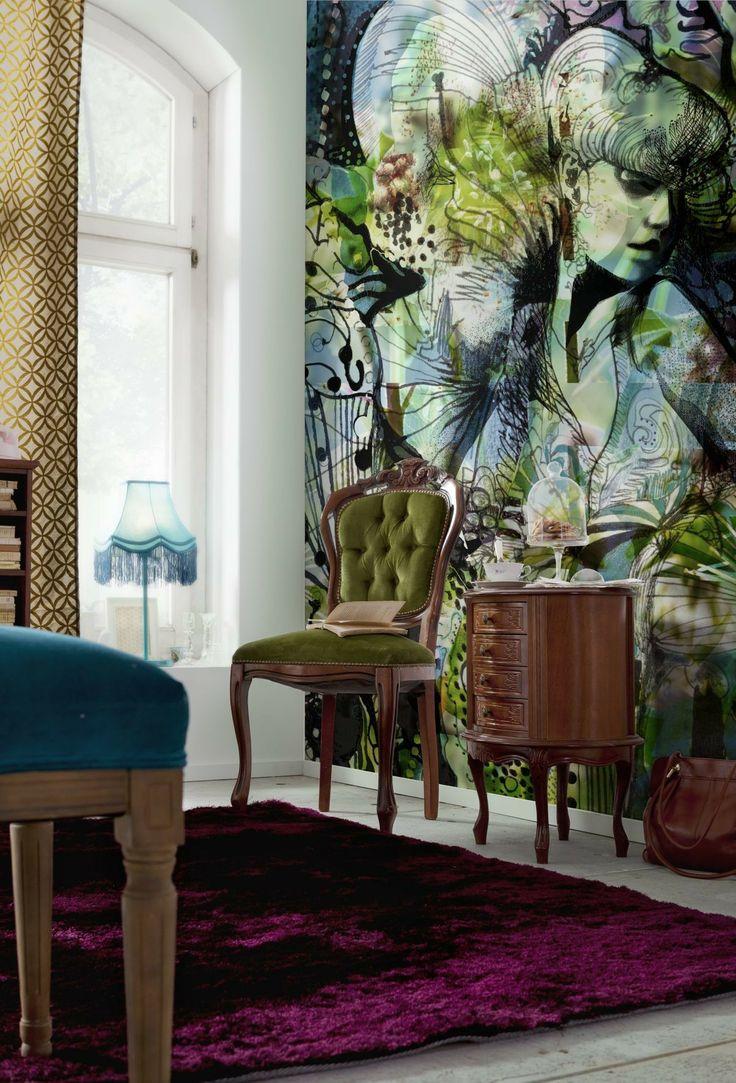 89 best komar images on pinterest wall murals home fashion and brewster home fashions komar aphrodites garden wall mural wayfair