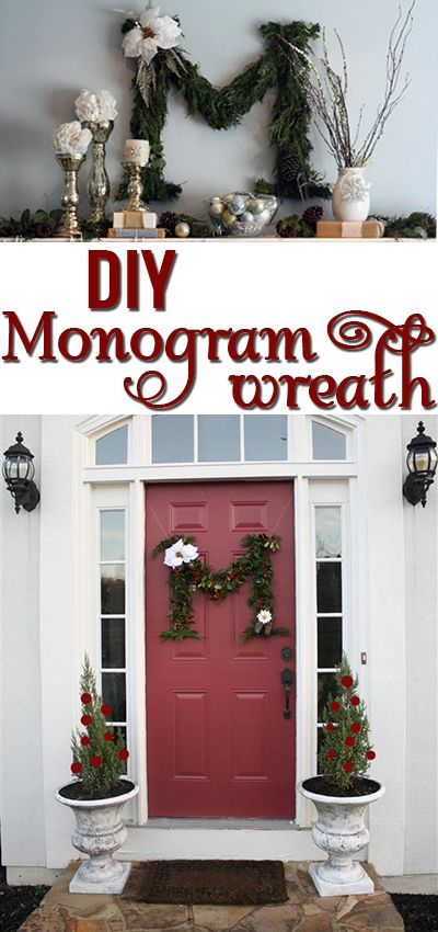 Make your own letter wreath for the holidays! Works indoors or out!