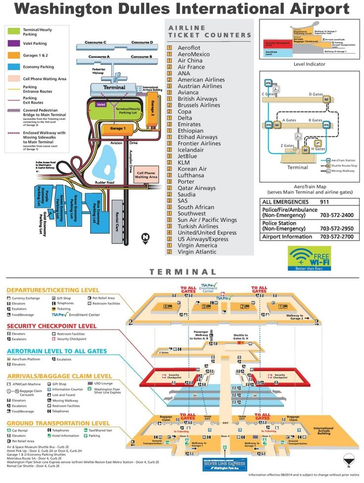 Washington Dulles International Airport map