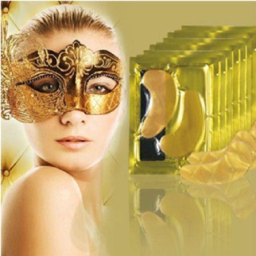 Gold Eye Mask Golden Crystal collagen eye mask anti-Dark Circle http://mobwizard.com/product/24k-gold-ey2036171019/