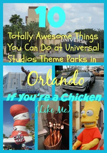 10 Totally Awesome Things You Can Do at Universal Studios Theme Parks in Orlando If You're a Chicken (Like Me) #Travel