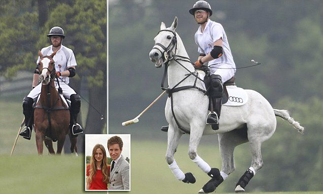 Prince Harry horses around at exclusive Ascot polo event